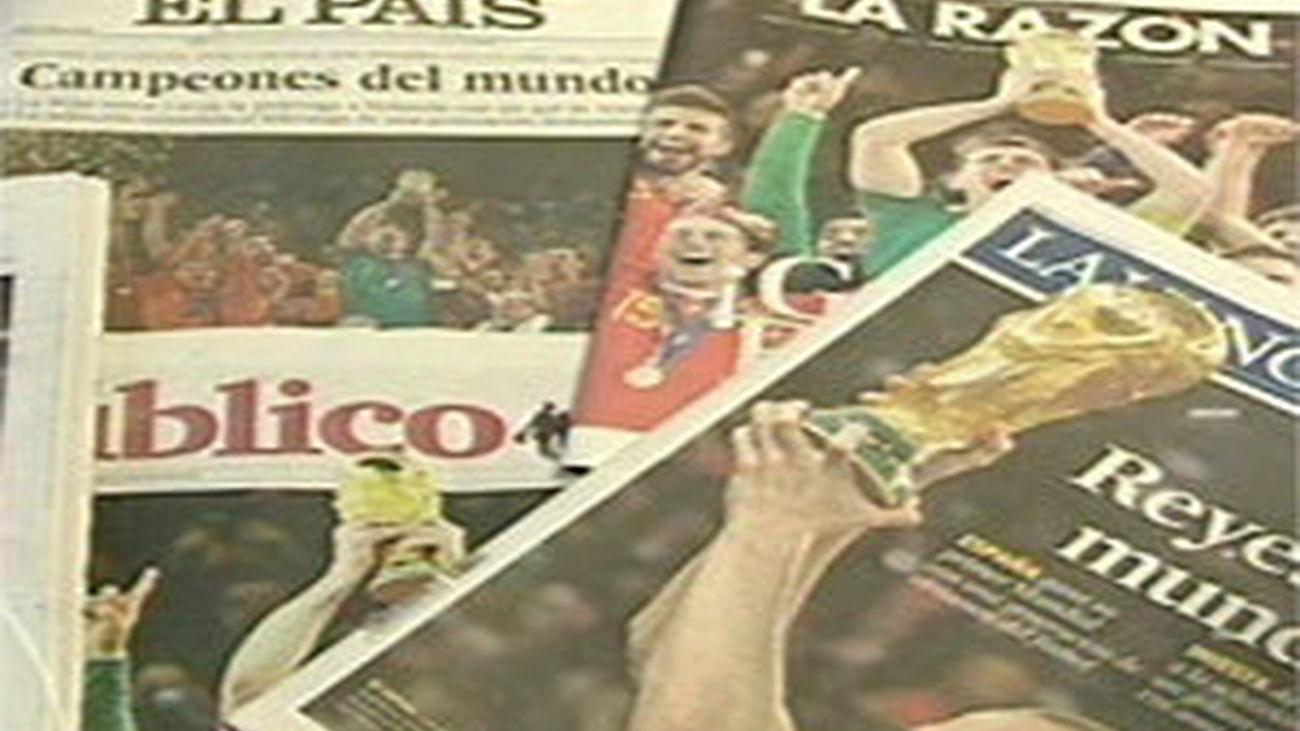 Portadas periodicos España Campeona del Mundo