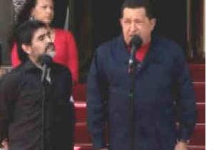 Chávez y Maradona