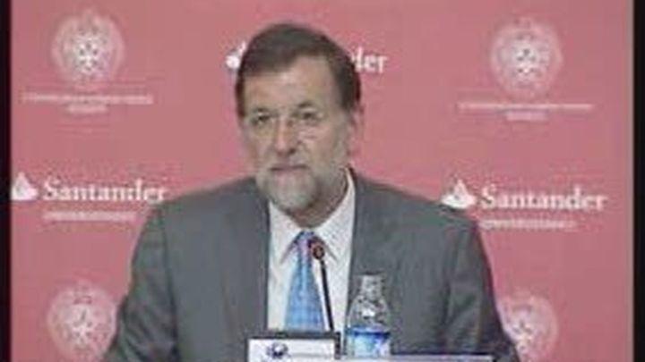Rajoy acusa a Zapatero de engañar con el Estatuto catalán