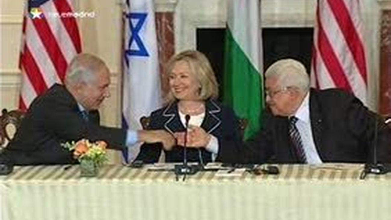 Palestinos e israelíes retoman el diálogo