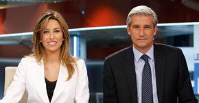 Víctor Arribas y Cristina Ortega. Telenoticias 2, 2010