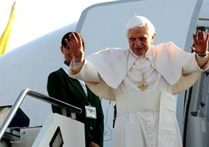 El papa visita UK