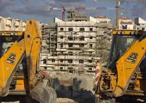 Israel, construcción de asentamiento judíos