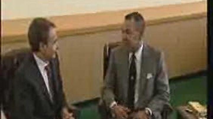 """""""La foto es lo más importante"""", en el encuentro Zapatero Mohamed VI"""