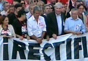 Manifestación sindicatos huelga general