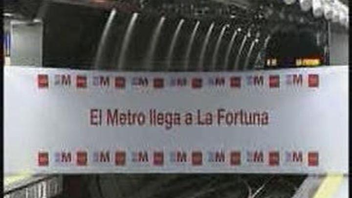 Aguirre inaugura en Leganés la prolongación de la línea 11 de Metro a La Fortuna