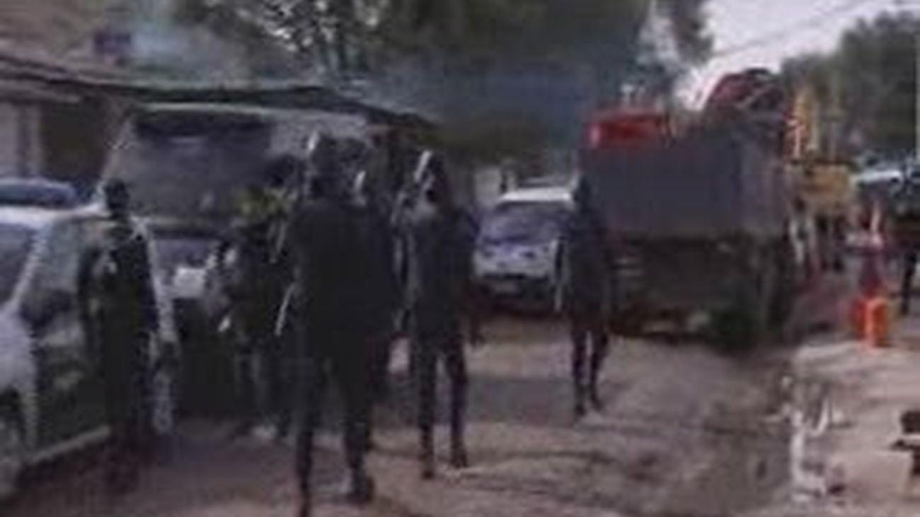 Macrorredada contra la droga en Cañada Real
