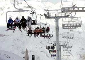 Telesilla en una estación de esquí