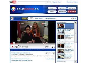 Portada de la página de Telemadrid en YouTube