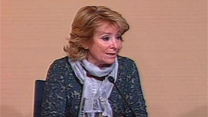 Aguirre dice que si el PSOE quiere que el pacto antiterrorista siga vigente es necesario impugnar las listas de Bildu