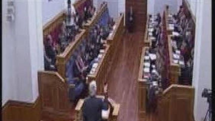 Bronca en el parlamento de Castilla la Mancha al llamar Barreda traidores al PP
