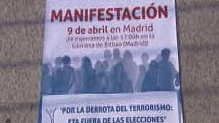 Casi cuarenta asociaciones y colectivos se suman a la manifestación de la AVT en Madrid