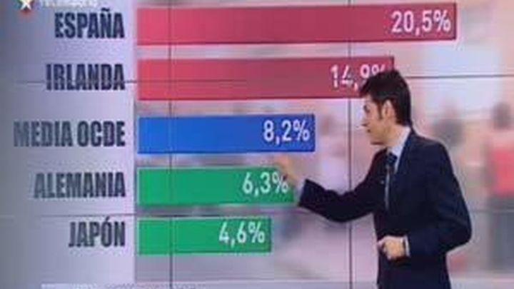 España: el país del mundo con más paro