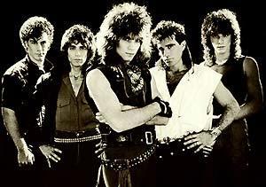 Una imagen de los Bon Jovi en los incios de la banda