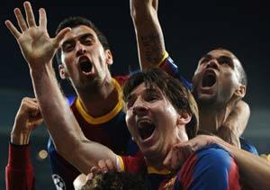 Messi resuelve un partido volcánico, polémico y sin fútbol
