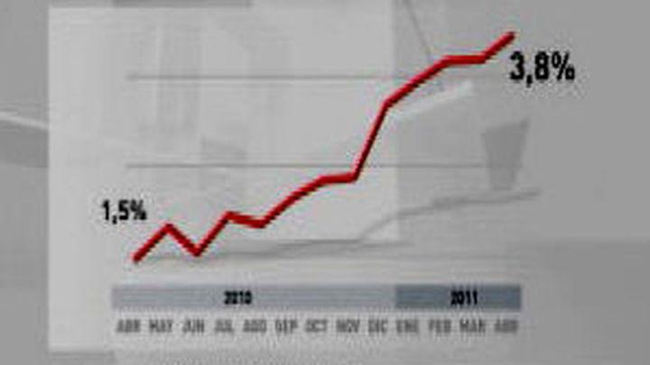 El IPC aumentó dos décimas su tasa anual  en abril, hasta el 3,8%, por la subida de los alimentos