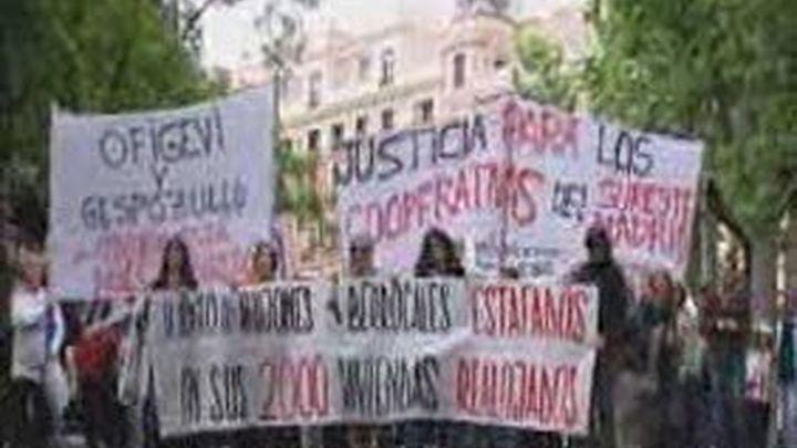 Los cooperativistas del Desarrollo Sureste se manifiestan por las calles de Madrid