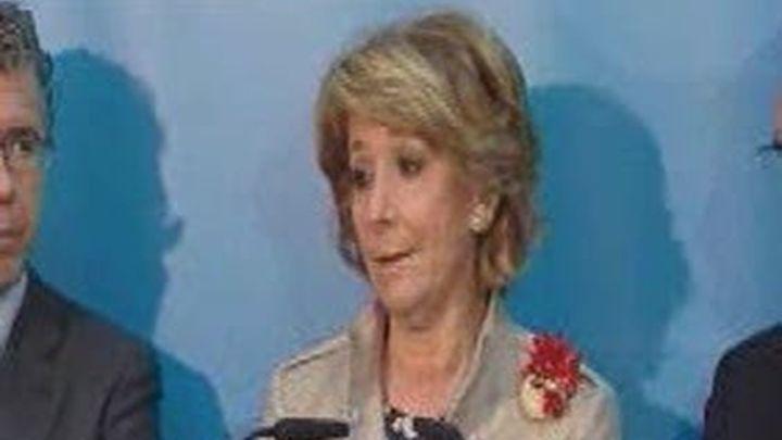 """Aguirre califica de """"nuevo desprecio a los madrileños"""" la ausencia de ministros el 2 de mayo"""