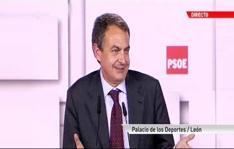 Zapatero elude hablar de Bildu y culpa al PP del paro