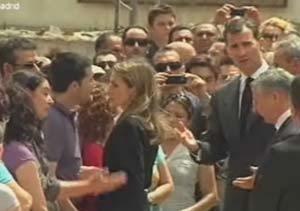 Emoción y dolor en el funeral por las víctimas de Lorca presidido por los Príncipes de Asturias
