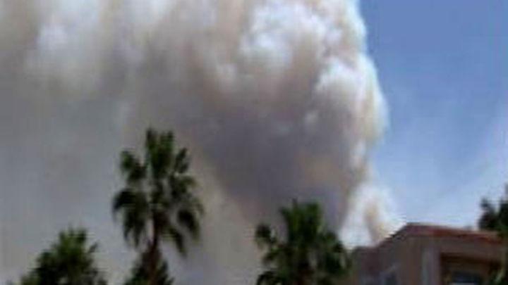 """El incendio de Ibiza está """"mucho  más estabilizado"""" aunque todavía no ha sido controlado"""