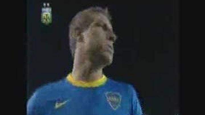 Regalan la portería del campo de Boca Juniors a Martín Palermo