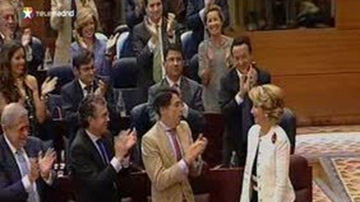 Esperanza Aguirre investida presidenta de la Comunidad de Madrid por la Asamblea
