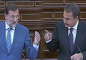 Debate sobre el estado de la Nación: Zapatero y Rajoy