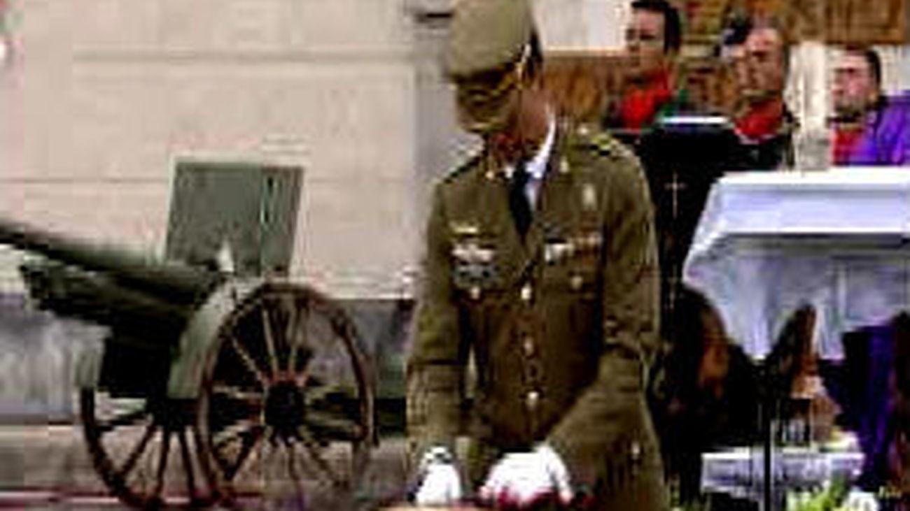 Emotiva despedida a los fallecidos en Afganistán, presidida por el Príncipe