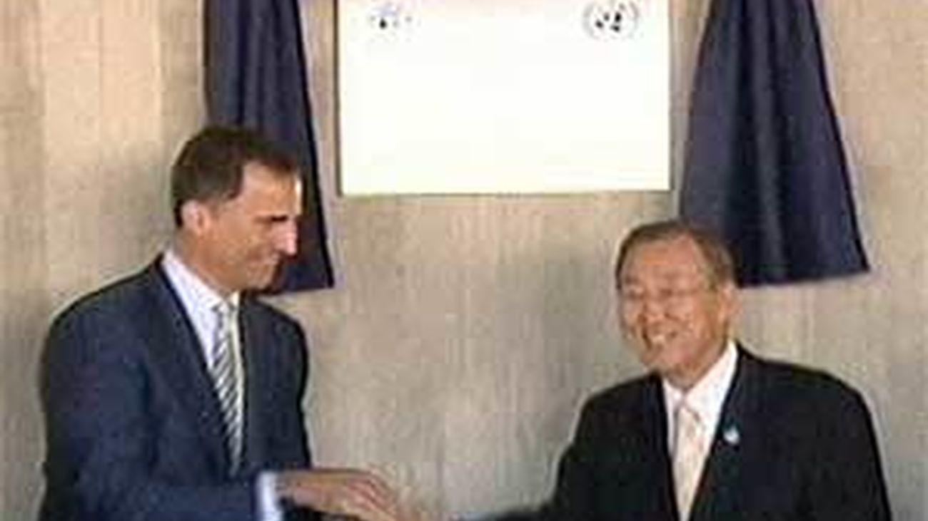 El Príncipe inaugura con Ban Ki Moon la Base de Apoyo y Centro de Comunicaciones de la ONU