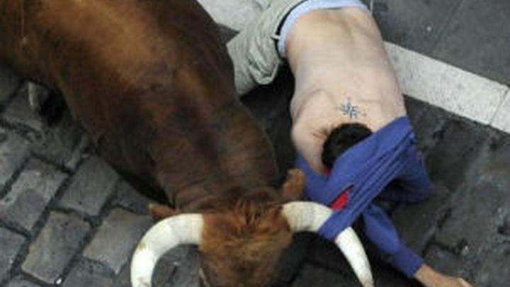 Dos heridos por asta de toro en el encierro de los Cebada Gago