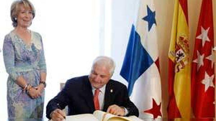 Aguirre recibe al presidente de Panamá en la sede del Gobierno de Madrid