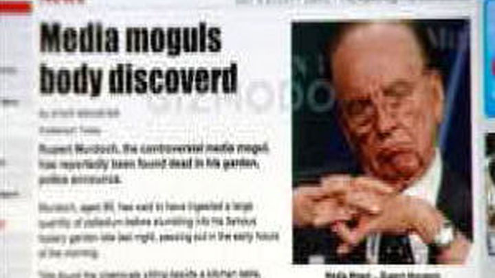 """Los """"hackers"""" de LulzSec atacan el diario """"The Sun"""" de Murdoch"""