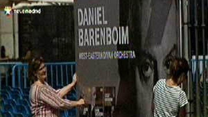 Baremboim en concierto en la Plaza Mayor de Madrid