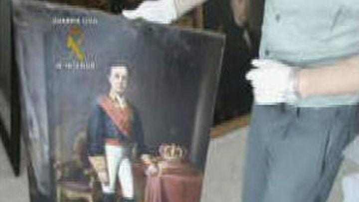 La Guardia Civil recupera siete cuadros robados de Madrazo y detiene a siete personas
