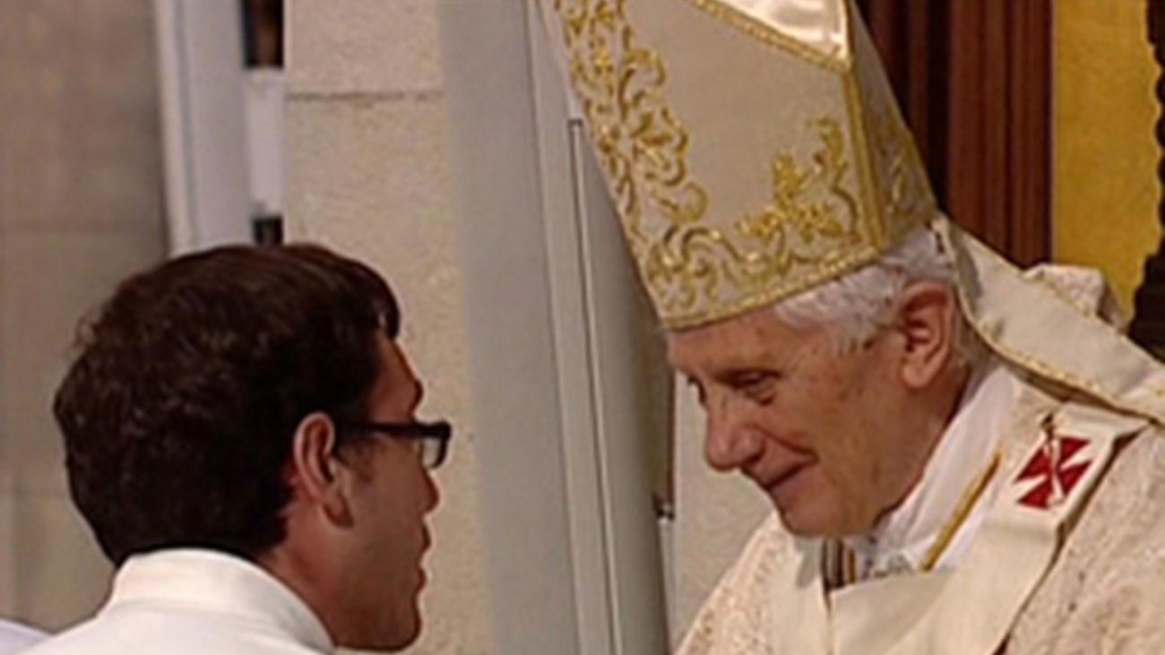 Los seminaristas dan la bienvenida al Papa