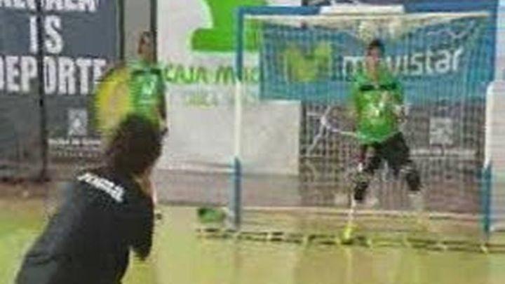 Espectacular entrenamiento de los porteros del Inter Movistar