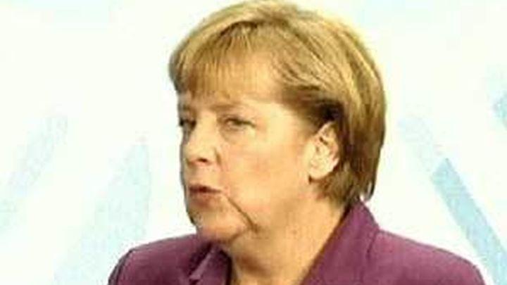 Angela Merkel se opone a la emisión de eurobonos