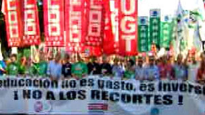 Segunda jornada de huelga en la enseñanza pública madrileña contra los recortes