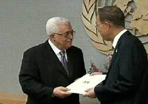 Abás y Ban Ki-moon