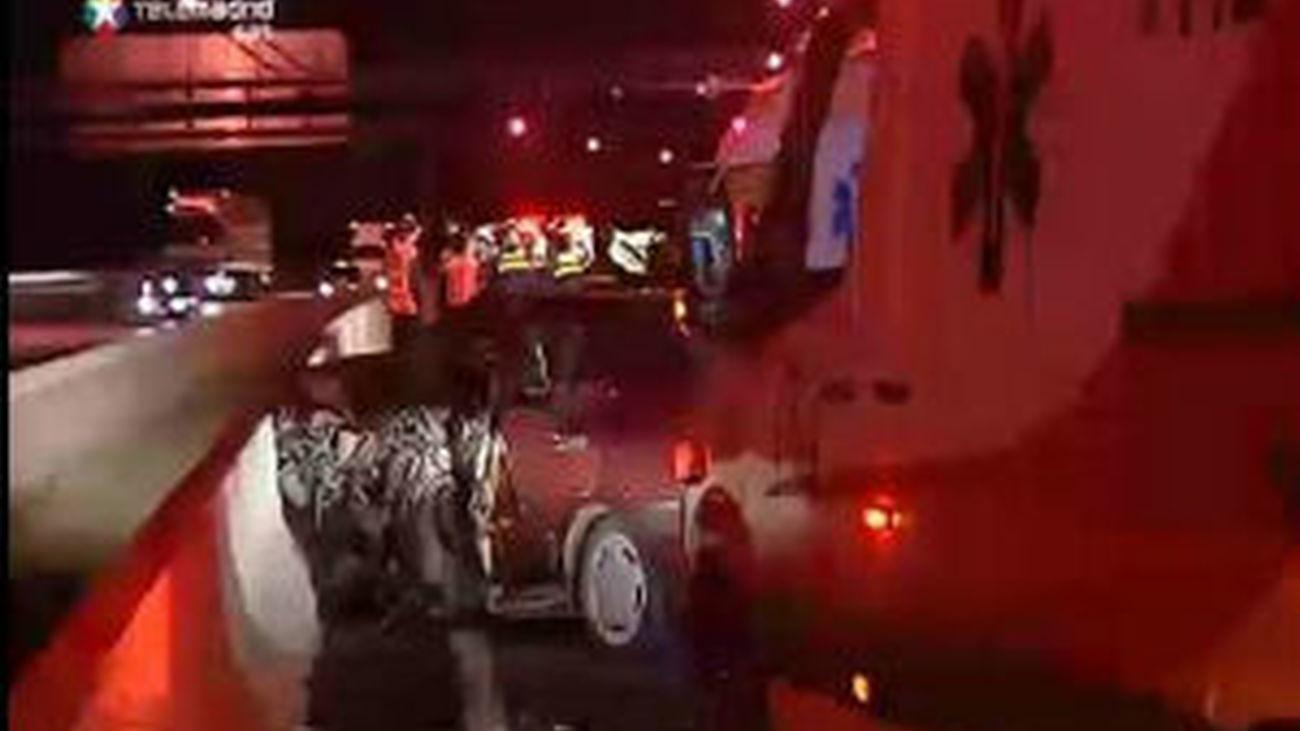 Muere un hombre al colisionar su coche frontalmente con  en el de un kamikaze  M-40