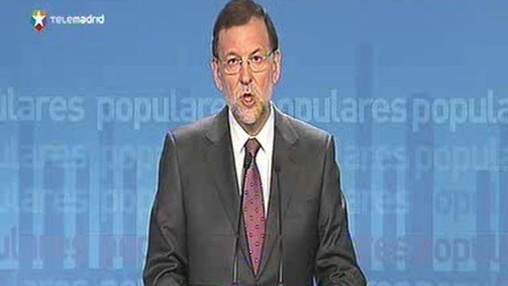 """Rajoy dice que la tranquilidad sólo será completa con la """"disolución irreversible"""" de ETA"""