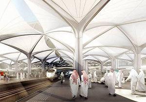 Imagen del proyecto de alta velocidad en Arabia Saudí