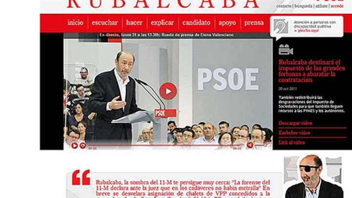 Anonymous hackea la web de Rubalcaba  y aseguran que el PP será el siguiente