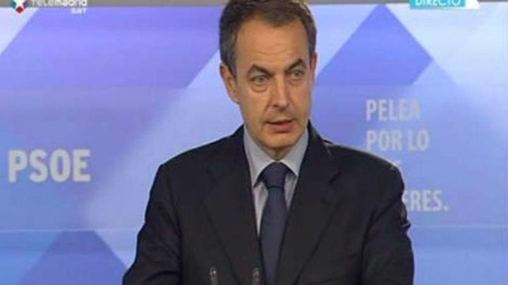 Zapatero anuncia el Congreso Federal del  PSOE para la primera semana de febrero