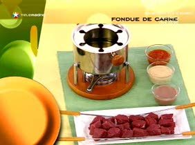 Fondue de carne y salsas
