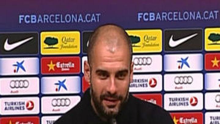 """Guardiola: """"Estamos a una distancia importante y mañana se incrementará"""""""