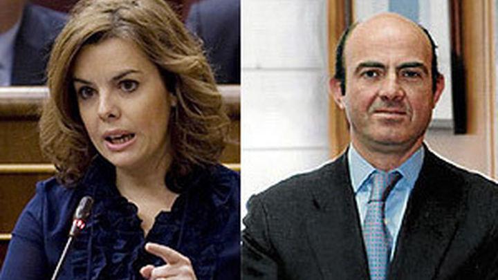 Sáenz de Santamaría vicepresidenta y Luis de Guindos ministro de Economía