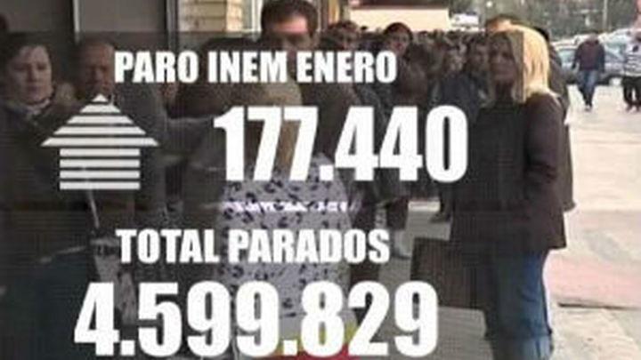 Nuevo record: El paro subió en enero en 177.470 personas,  hasta casi 4,6 millones