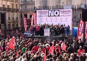 Manifestación en Puerta del Sol